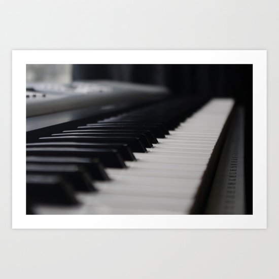Piano Keyboard Art Print