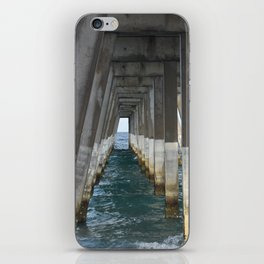 Under the Pier, Into the Ocean (Wrightsville Beach, NC) iPhone Skin