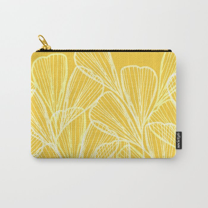 Golden Yellow Flora Carry-All Pouch