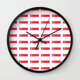 Flag of singapore-singapore,新加坡,Singapura,Ciṅkappūr,Singaporean Wall Clock
