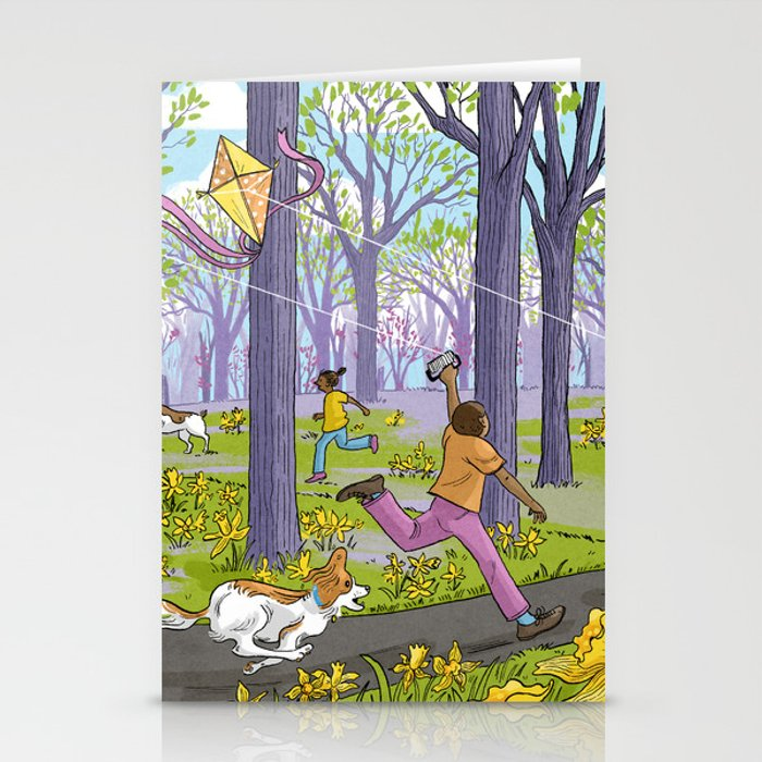 Kites and Daffodils Stationery Cards