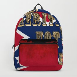 Heritage, not Hatred - US Southern Cross Flag Backpack