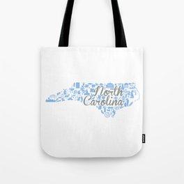 UNC North Carolina State - Blue and Gray University of North Carolina Design Tote Bag