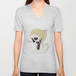 Skull Arlequin Unisex V-Neck