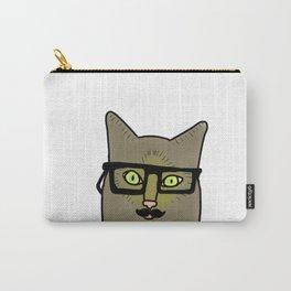 Professor Mustache Cat Carry-All Pouch