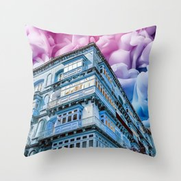 Fireworks in Valletta Throw Pillow
