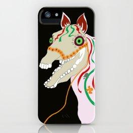Horse head skull of Mari Lwyd celebration Wales good luck iPhone Case