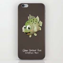 Green Spotted Scat Fish iPhone Skin