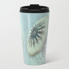 Jellyfish Underwater Aqua Turquoise Art Travel Mug
