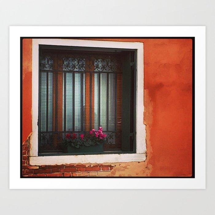 A Window in Italy Kunstdrucke