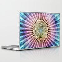 tie dye Laptop & iPad Skins featuring Textured Mandala Tie Dye by Phil Perkins