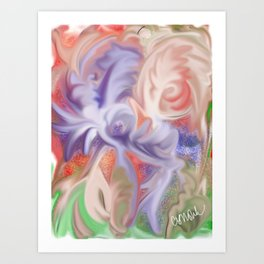 Marbled warbled Art Print