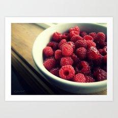 Raspberry Dream Art Print