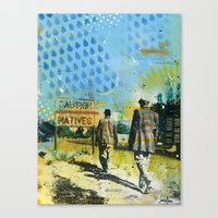 native Canvas Prints featuring Native by MATEO