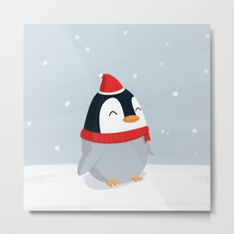 Christmas Penguin Metal Print