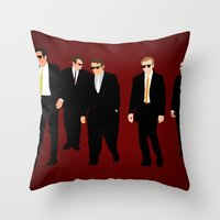 reservoir dogs Throw Pillows featuring Reservoir Dogs by Tom Storrer