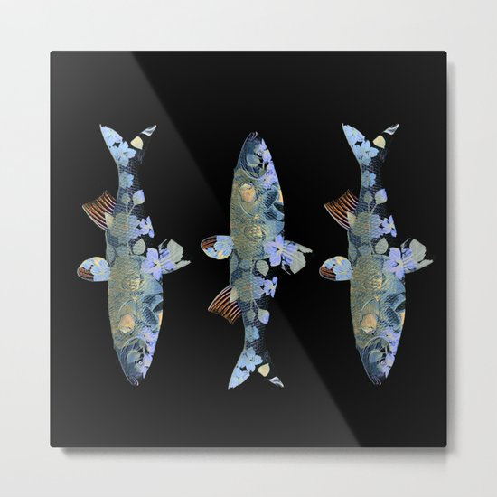 Flowery fish Metal Print