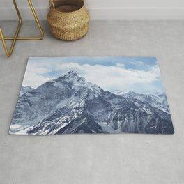 Snowy Mountain Peaks Rug