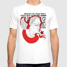 Julius Caesar White MEDIUM Mens Fitted Tee