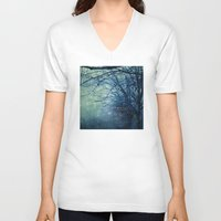 silent V-neck T-shirts featuring Silent Night  by Laura Ruth