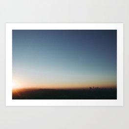 Sunrise in Hollywood Art Print