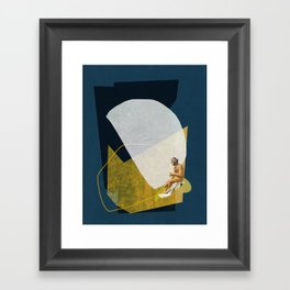 Man On The Sea Framed Art Print