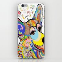 corgi iPhone & iPod Skins featuring Corgi by EloiseArt