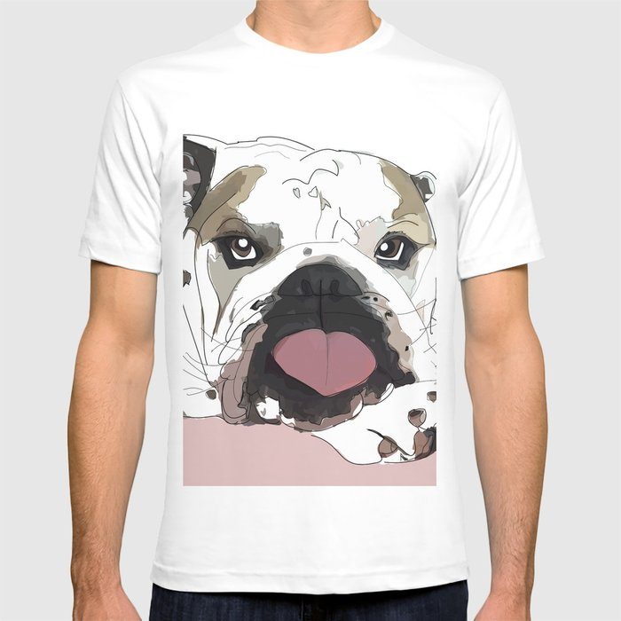 Womens T-Shirts I Love Bulldog t Shirts Design T Shirt 100/% Cotton