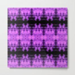 Purple Black Diamond Gothic Pattern Metal Print
