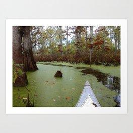 Canoeing the Cache Art Print