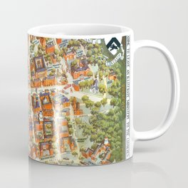 HARVARD University map MASSACHUSETTS Coffee Mug