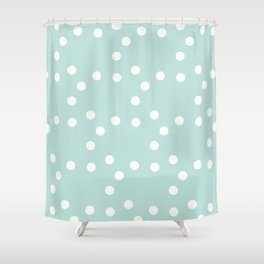 сhristmas tangerine. snow ed. Shower Curtain