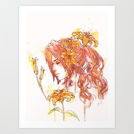 Aerith FFVII Art Print