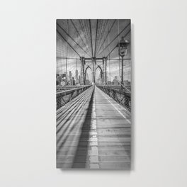 NEW YORK CITY Brooklyn Bridge | Panorama Metal Print