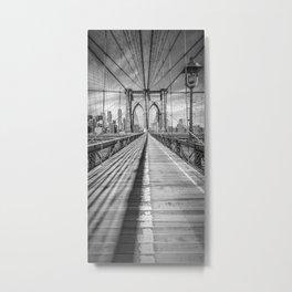 NEW YORK CITY Brooklyn Bridge | Panorama Metal Print