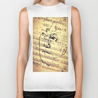 beethoven Biker Tanks featuring Beethoven Music by Richard Harper