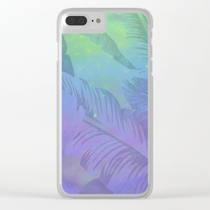 Rainbow in Palms Clear iPhone Case