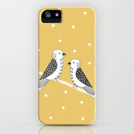 Chirping birds Yellow pallete iPhone Case