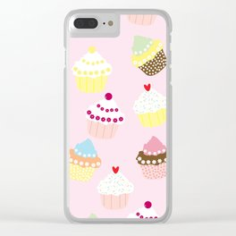 Cupcakes Party Artwork Clear iPhone Case