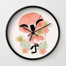 "The ""Animignons"" - the Flamingo Wall Clock"
