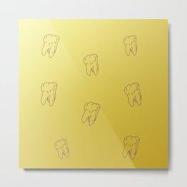 Teeth Sun gold gradient color Metal Print