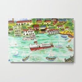 Day at the Harbor Metal Print