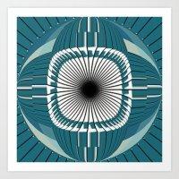 Dizzy Eye Art Print