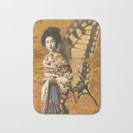 Vintage Geisha Butterfly Bath Mat