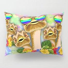 Ostrich Hawaii Fashion Funny Dudes Pillow Sham