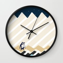 Stargazing by the River with a Dog Wall Clock