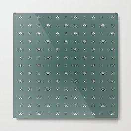 Royal Garden2 (Green) Metal Print