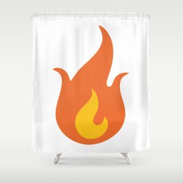 Fire Emoji Shower Curtain