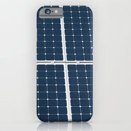 Image Of A Solar Power Panel. Free Clean Energy For Everyone iPhone Case