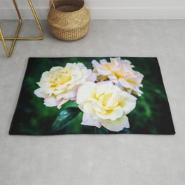 Three Yellow Rose Flowers Rug